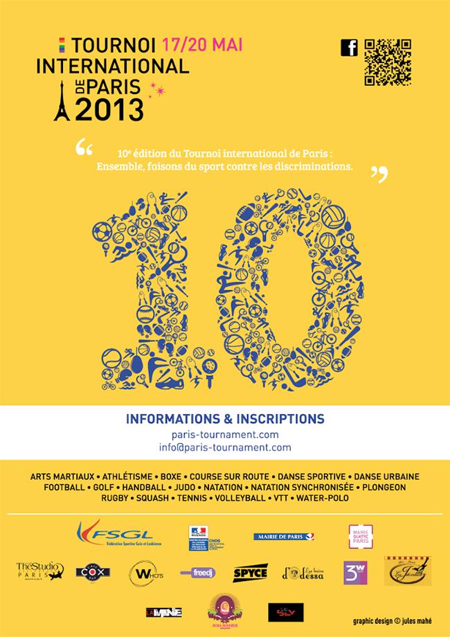 Sport LGBT : 10ème édition du Tournoi International de Paris