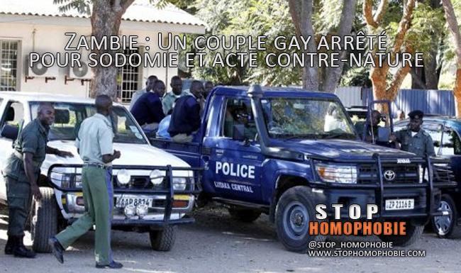 Zambie : Un couple gay arrêté pour sodomie et acte contre-nature