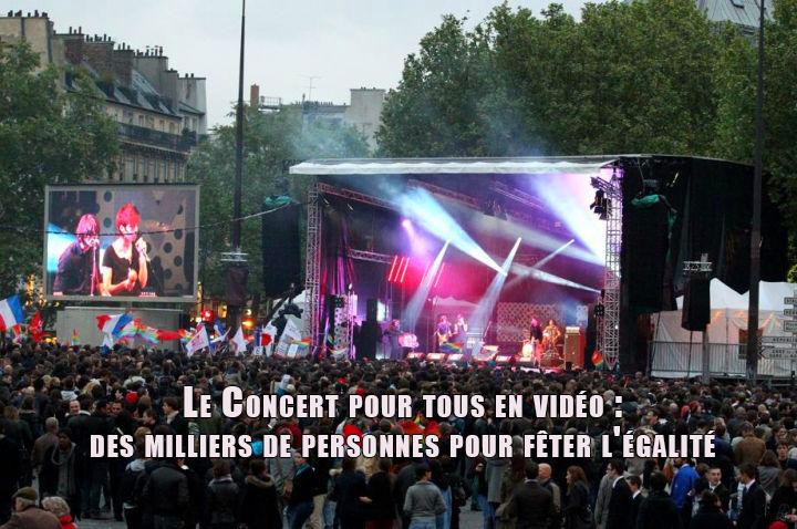 Le Concert pour tous en vidéo : des milliers de personnes pour fêter l'#égalité
