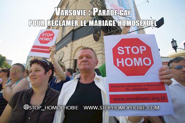 Varsovie : Parade gay pour réclamer le mariage homosexuel