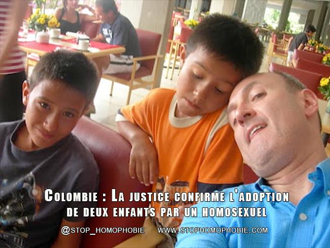 Colombie : La justice confirme l'adoption de deux enfants par un homosexuel