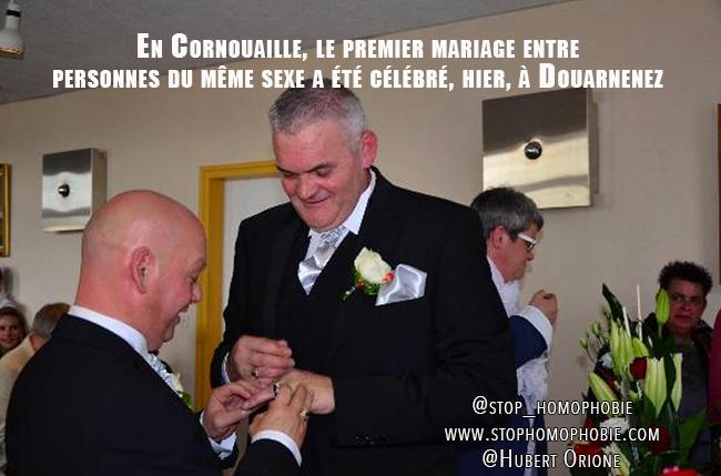 En Cornouaille, le premier mariage entre personnes du même sexe a été célébré, hier, à Douarnenez