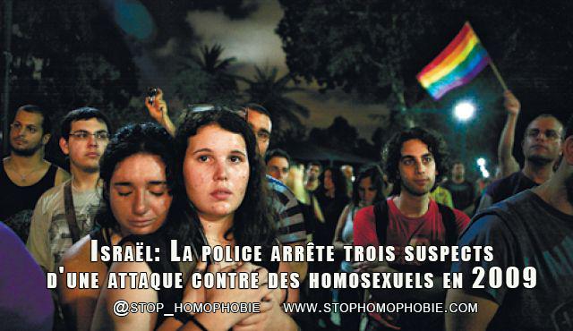 Israël: La police arrête trois suspects d'une attaque contre des homosexuels en 2009