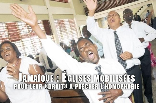 Jamaïque : Églises mobilisées pour leur «droit» à prêcher l'homophobie