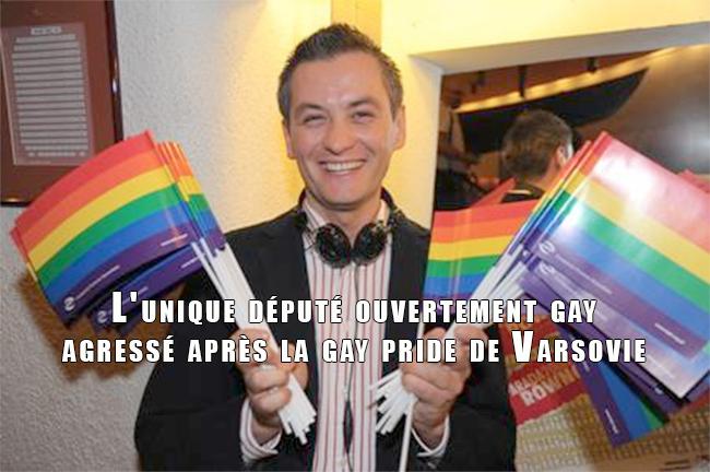 Pologne : L'unique député ouvertement gay agressé après la gay pride de Varsovie