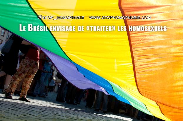 Le Brésil envisage de «traiter» les homosexuels