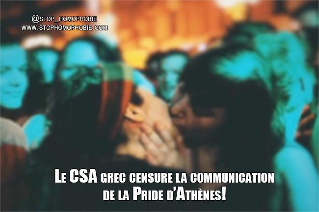 Le CSA grec censure la communication de la Pride d'Athènes!