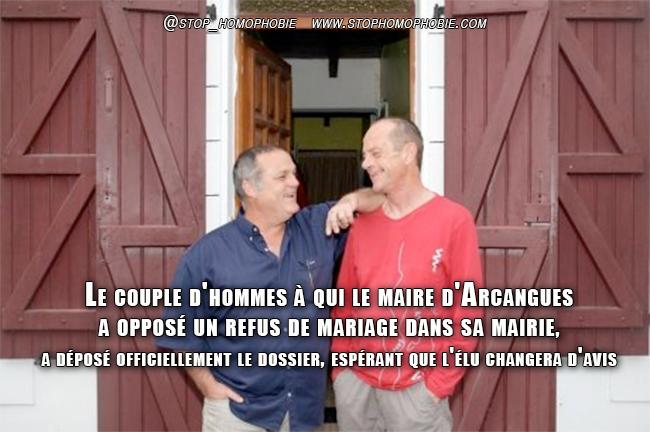 Mariage gay à Arcangues : Le couple a déposé son dossier à la mairie