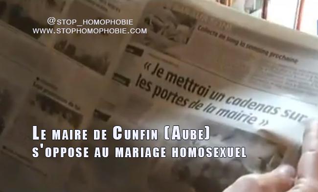 Mariage homosexuel : « Je mettrai un cadenas sur les portes de la mairie »