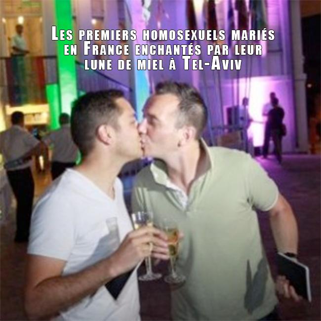 Vincent et Bruno en lune de miel à Tel-Aviv pour la gay pride israélienne