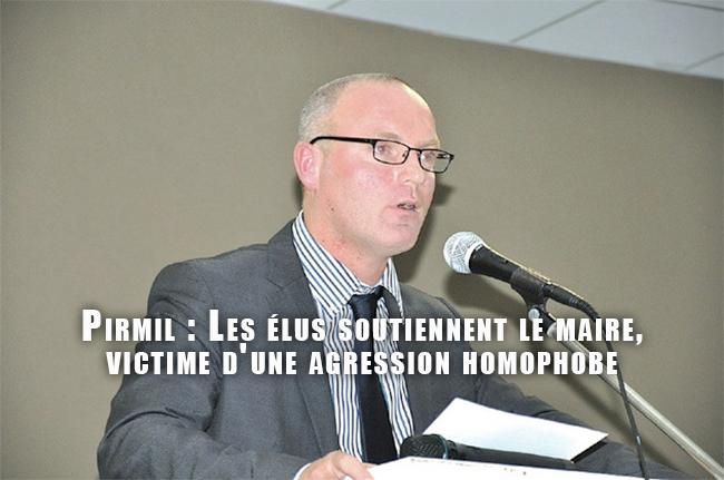 Pirmil : Les élus soutiennent le maire, victime d'une agression homophobe