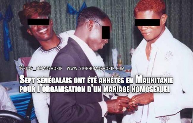 Sept sénégalais arrêtés par la police mauritanienne pour l'organisation d'un mariage entre deux hommes