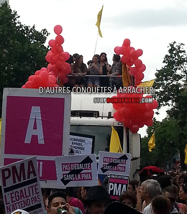 A la Gay Pride, presque tous derrière la PMA