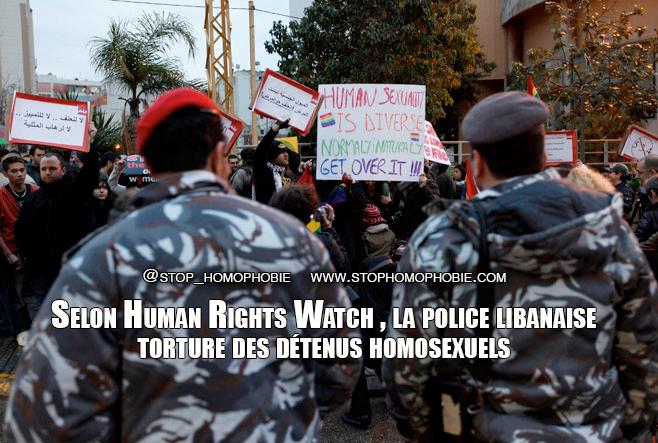Liban : Selon Human Rights Watch , la police libanaise torture des détenus homosexuels