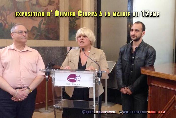 Belle présentation pour l'exposition d' @OlivierCiappa à la mairie du 12eme.