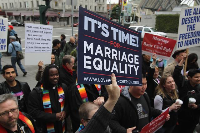 La Cour suprême prête à trancher sur le mariage gay
