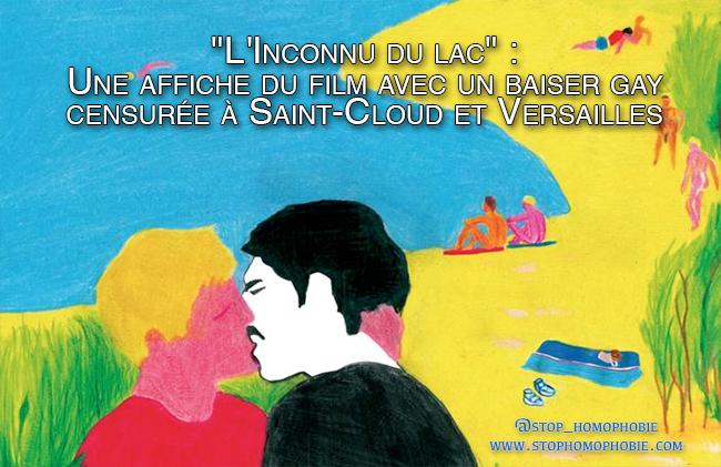"""""""L'Inconnu du lac"""" : Une affiche du film avec un baiser gay censurée à Saint-Cloud et Versailles"""