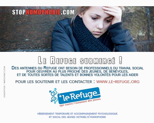 @_LeRefuge : hébergement temporaire et accompagnement psychologique et social des jeunes victimes d'homophobie