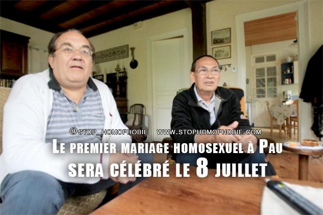 Le premier mariage homosexuel à Pau sera célébré le lundi 8 juillet prochain