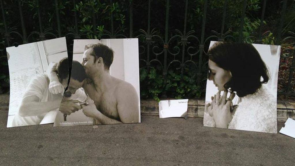 """""""les couples imaginaires"""" : nouvel acte de vandalisme contre l'exposition d'Olivier Ciappa"""