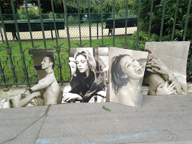 """Rassemblement contre l'homophobie suite aux vandalisations de l'expo """"Les Couples imaginaires"""" d'Olivier Ciappa"""