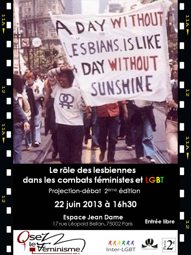 Osez le féminisme : Le rôle des lesbiennes dans les combats féministes et LGBT.