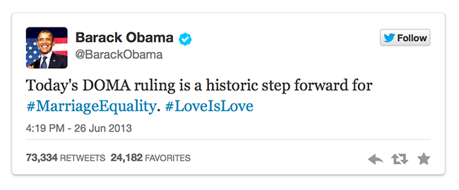 Les Etats-Unis reconnaissent les couples homosexuels déjà mariés