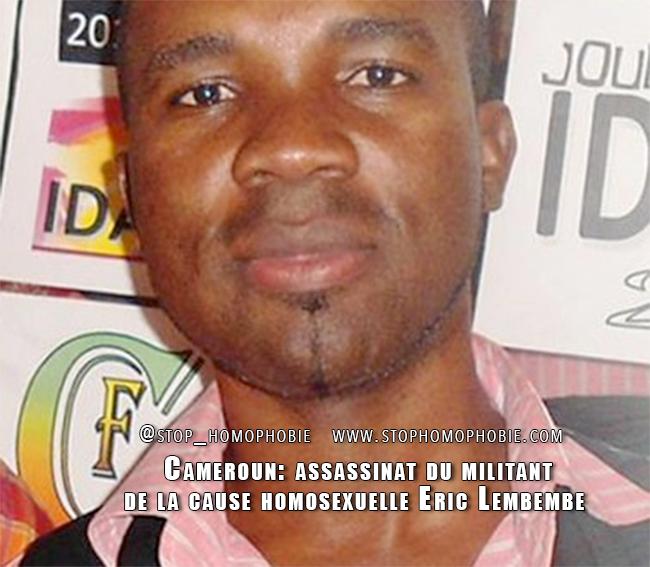 Cameroun: assassinat du militant de la cause homosexuelle Eric Lembembe