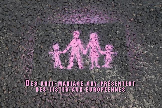 Des anti-mariage gay présentent des listes aux européennes