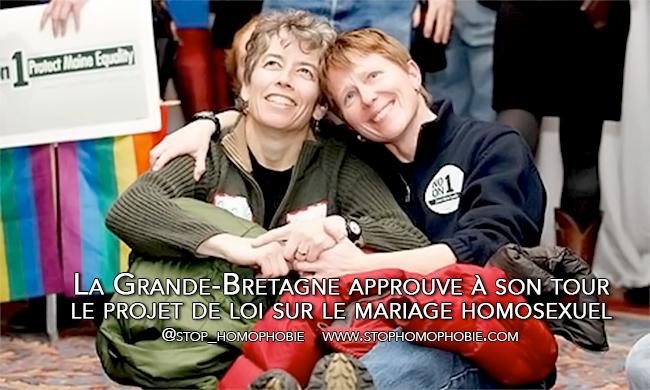 La Grande-Bretagne approuve à son tour le projet de loi sur le mariage homosexuel