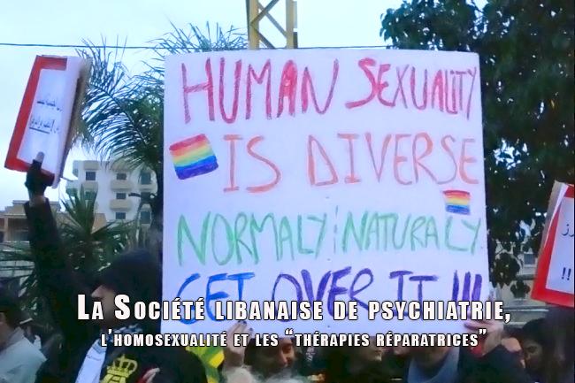 La Société libanaise de psychiatrie, l'homosexualité et les « thérapies réparatrices »