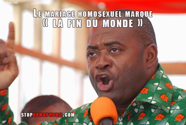Le mariage homosexuel marque « la fin du monde » selon un ministre ivoirien !