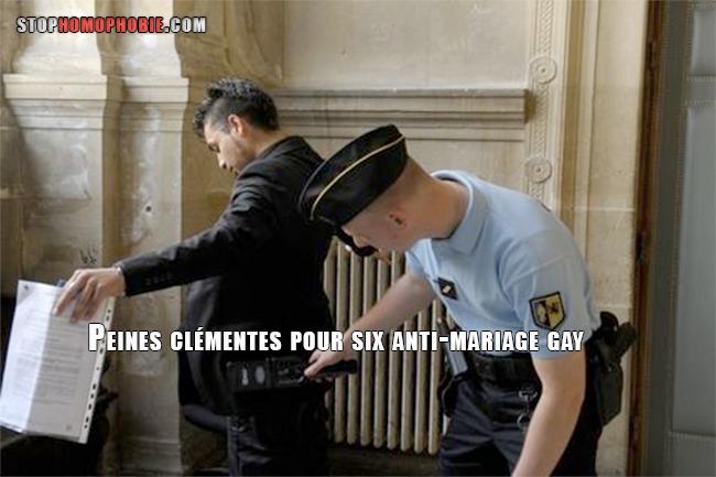 Peines clémentes pour six anti-mariage gay