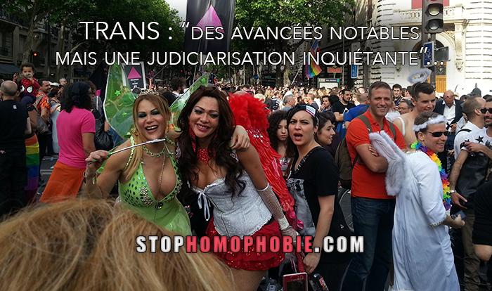 """TRANS : """"des avancées notables mais une judiciarisation inquiétante""""..."""
