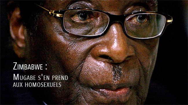 Zimbabwe : Mugabe s'en prend aux homosexuels au cours d'un meeting de campagne
