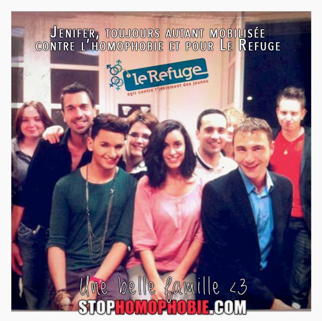 """Jenifer, marrainne de l'association """"@_LeRefuge"""" toujours engagée contre l'#homophobie <3"""