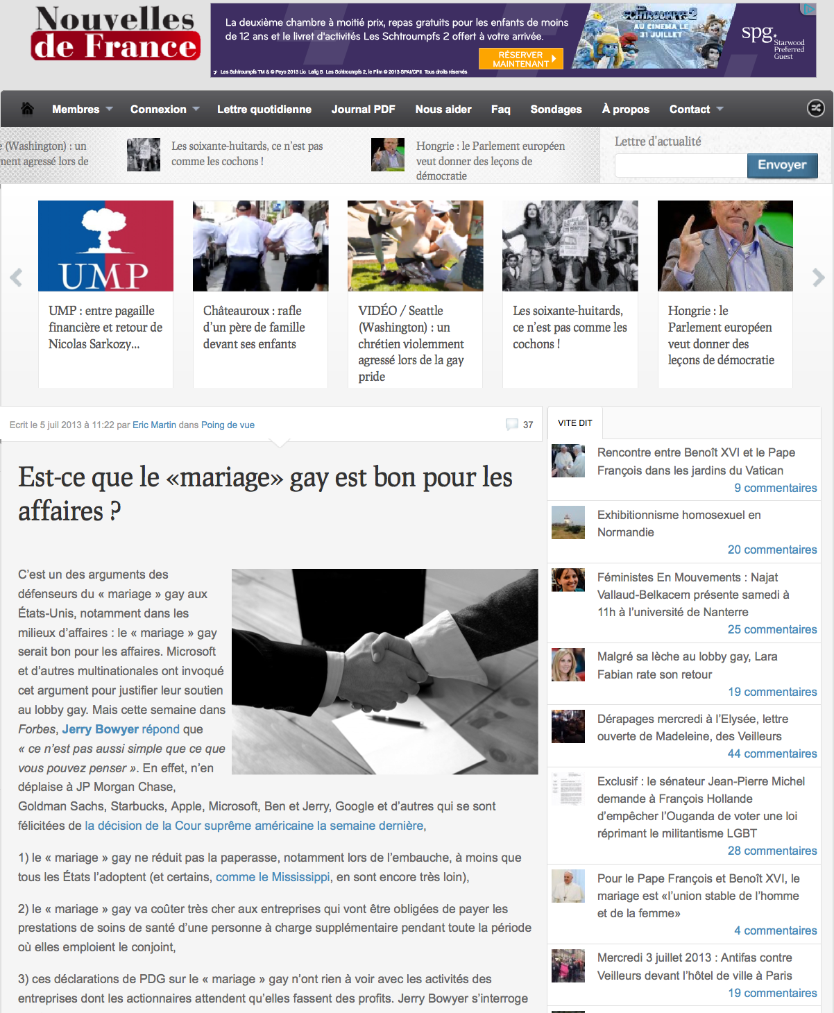 Tendance : Quand les anti-mariage pour tous s'obstinent à tremper dans la propagande des amalgames