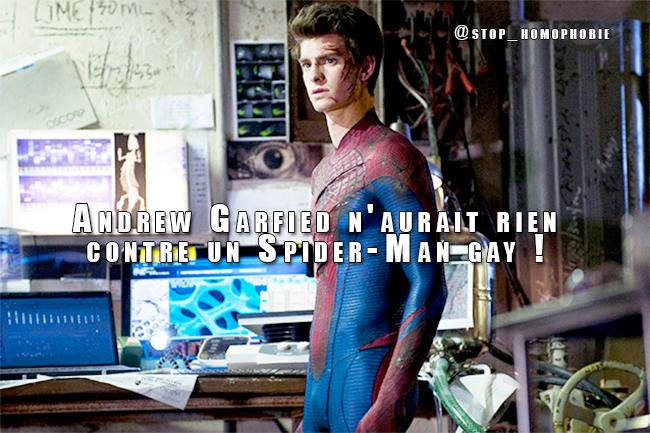 L'acteur américain qui incarne Spider-Man à l'écran ne verrait pas d'inconvénient à ce que son personnage soit homosexuel.