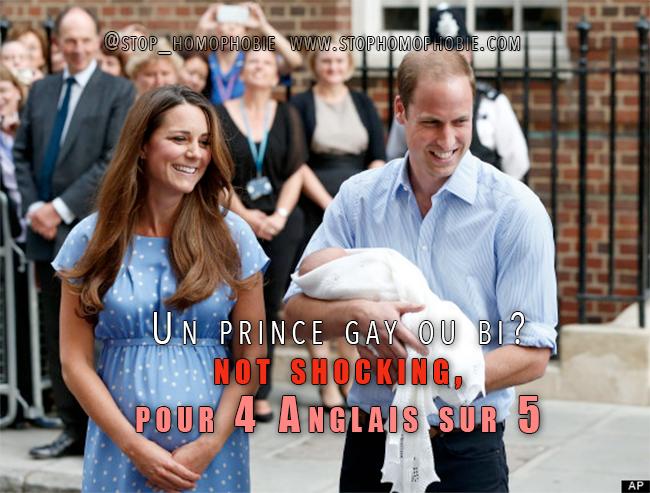 Londres : Un prince gay ou bi? Not shocking, pour 4 Anglais sur 5