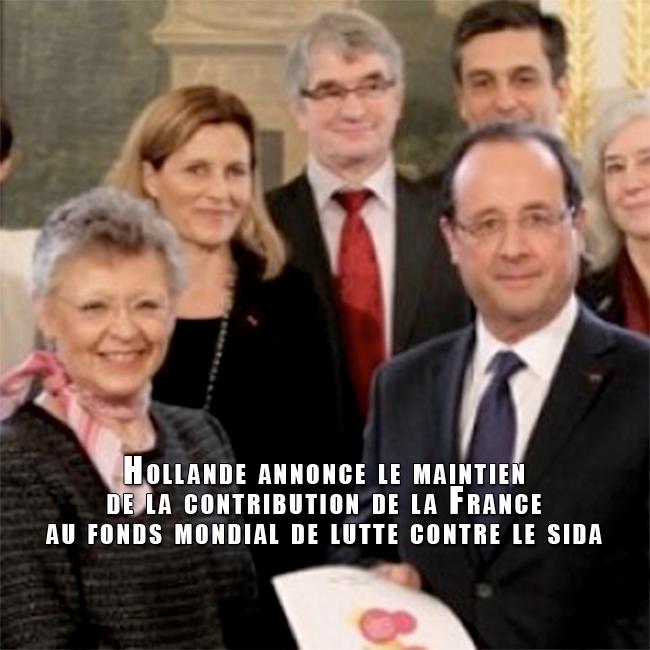 VIH : Hollande annonce le maintien de la contribution de la France au fonds mondial de lutte contre le sida