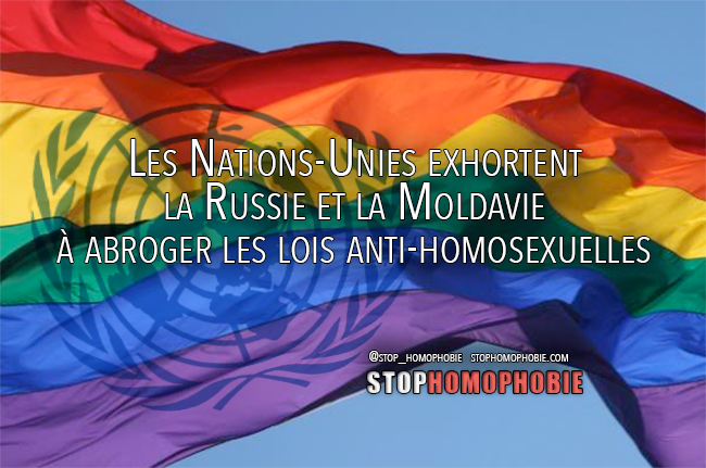 Les Nations-Unies exhortent la Russie et la Moldavie à abroger les lois anti-homosexuelles