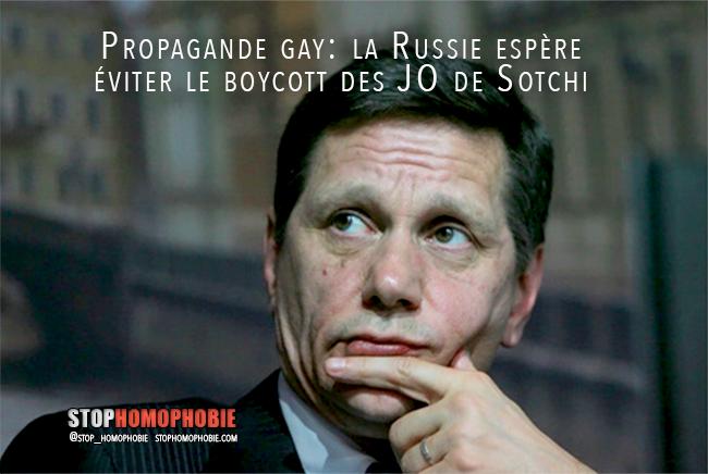 Propagande gay: la Russie espère éviter le boycott des JO de Sotchi