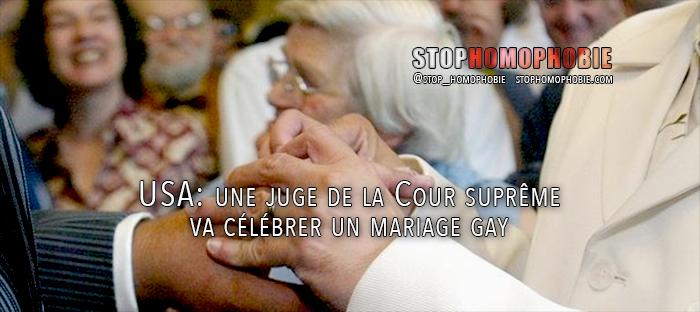 USA: une juge de la Cour suprême va célébrer un mariage gay