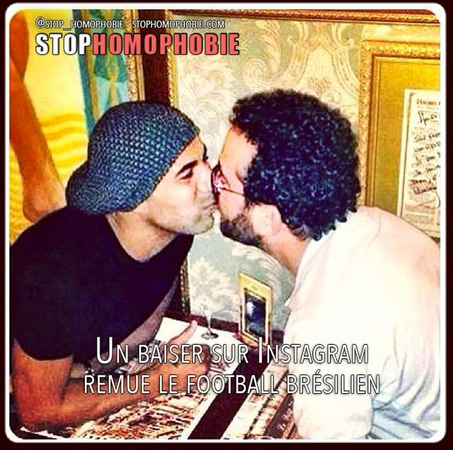 Un baiser sur Instagram remue le football brésilien