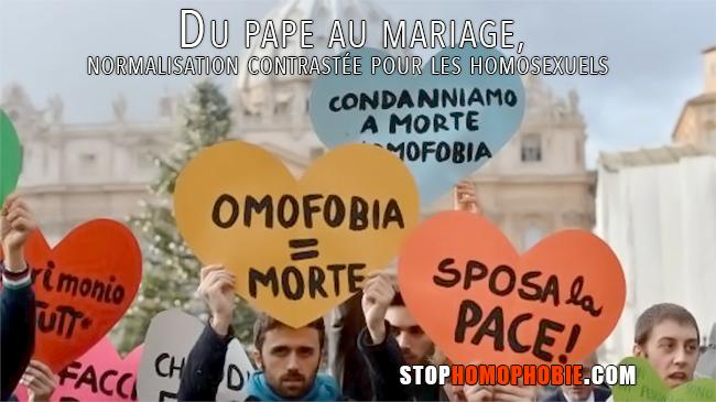 Du pape au mariage, normalisation contrastée pour les homosexuels