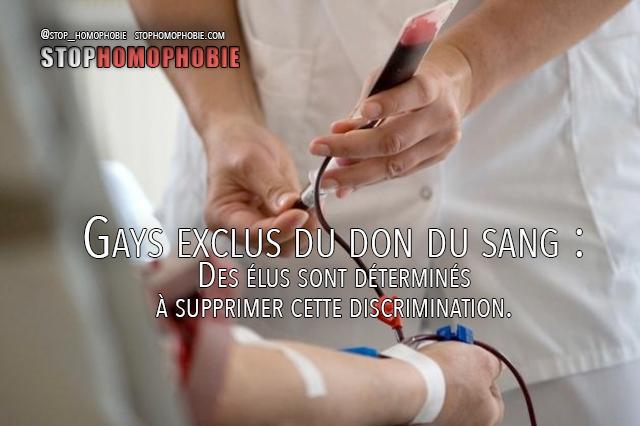 Suisse - Gays exclus du don du sang : Des élus sont déterminés à supprimer cette discrimination.