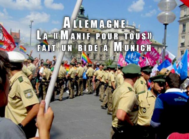 Allemagne : La «Manif pour tous» fait un bide à Munich