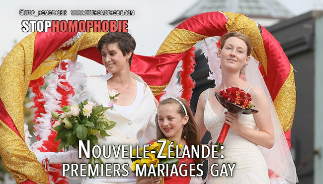 Nouvelle-Zélande : premiers mariages gay