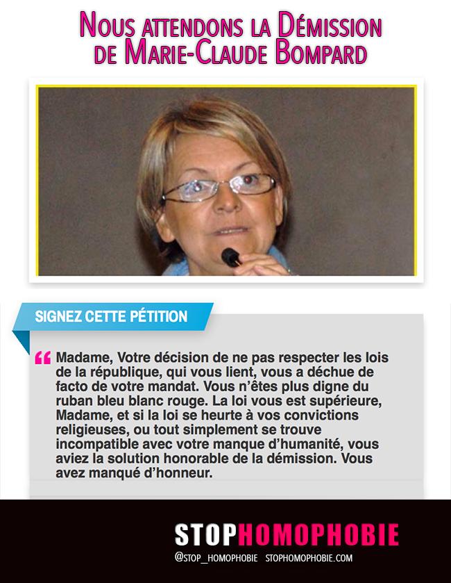 """Pétition pour la """"Démission"""" de Marie-Claude Bompard, maire d'extrême droite de Bollène (Vaucluse)"""