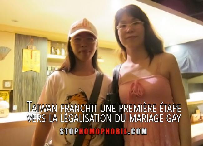 Taiwan franchit une première étape vers la légalisation du mariage gay